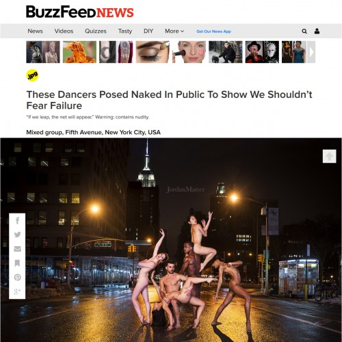 These Dancers Posed Naked In Public To Show We Shouldn't Fear Failure