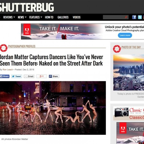 Dancers Like You've Never Seen Them Before: Naked on the Street After Dark