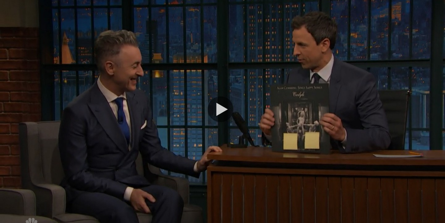 Alan Cumming is a Dancer After Dark! See his interview with Seth Meyers.